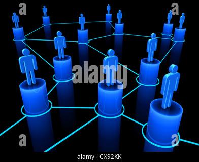 Les gens interconnectés sur le concept de l'Union européenne, de l'équipe et la communication.