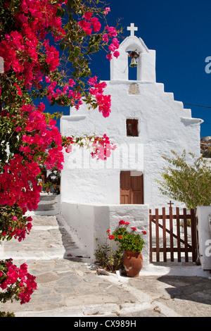 Chapelle à Chora town sur l'île d'Amorgos en Grèce Banque D'Images
