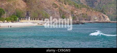 Plage et côte de Dili, au Timor oriental Banque D'Images
