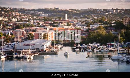 Sur les toits de la ville, Fort-de-France, Martinique, Petites Antilles, Antilles, Caraïbes, Amérique Centrale Banque D'Images