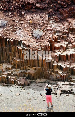 Vallée des tuyaux d'orgue, Damaraland, région de Kunene, Namibie, Afrique