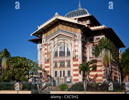 Bibliothèque Schoelcher (bibliothèque), Fort-de-France, Martinique, Petites Antilles, Antilles, Caraïbes, Amérique Banque D'Images