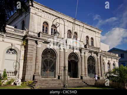 L'ancien édifice du Palais, Fort-de-France, Martinique, Petites Antilles, Antilles, Caraïbes, Amérique Centrale Banque D'Images