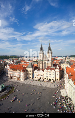 Église Notre Dame de Tyn (avant l'église de Tyn) dans la Vieille Ville (Stare Mesto), Prague, République Tchèque, Europe