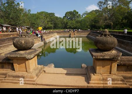 Kuttam Pokuna (lits étangs), Anuradhapura, UNESCO World Heritage Site, North Central Province, Sri Lanka, Asie Banque D'Images