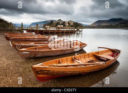 Lancement de Keswick Castlerigg, bateaux, Parc National de Lake District, Cumbria, Angleterre Banque D'Images