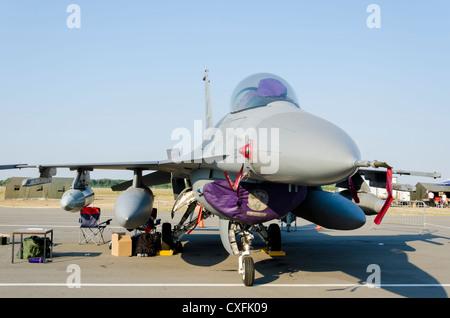 Avion F-16 Fighting Falcon sur l'Airshow Batajnica 2012 à Belgrade, Serbie le 2 septembre 2012.