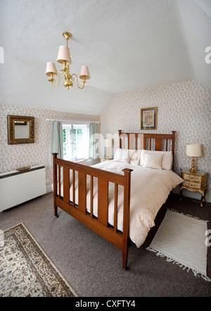 Petite chambre double dans une location de vacances Herefordshire UK Banque D'Images