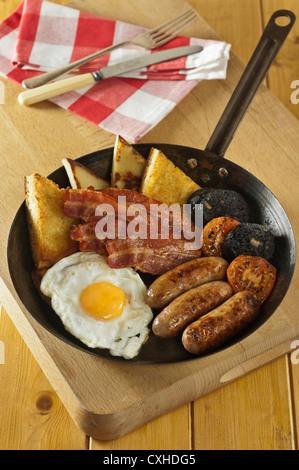 Petit-déjeuner irlandais de l'Ulster Fry Banque D'Images
