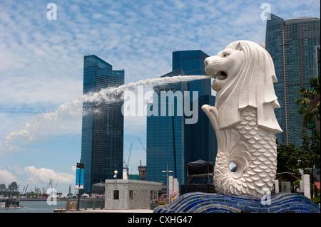 Statue du Merlion, symbole de Singapour Banque D'Images