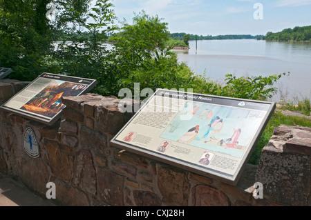 L'Arkansas, Fort Smith National Historic Site, sentier des larmes National Historic Trail, donnent sur la rivière Banque D'Images