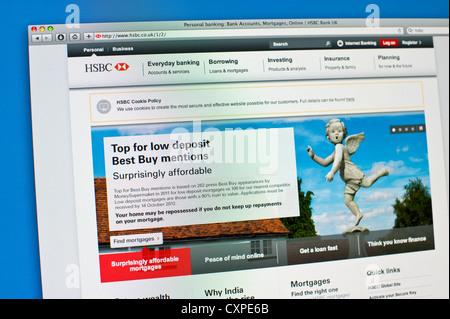Site web des services bancaires en ligne de HSBC Banque Banque D'Images