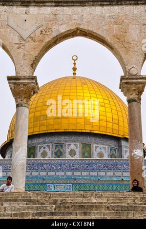 Dôme du Rocher, sur le mont du Temple, vieille ville de Jérusalem, Israël, Moyen-Orient, Asie du Sud-Ouest Banque D'Images