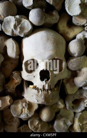 Les droits de l'os dans la crypte de l'église St Leonard's Hythe Kent UK