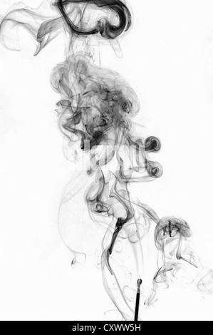 Modèle de turbulence de fumée Banque D'Images