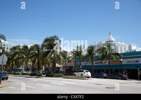 Washington Avenue à Miami South beach floride usa Banque D'Images