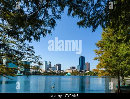 Le centre-ville de ville de Lake Eola Park, Orlando, Floride, USA Central Banque D'Images