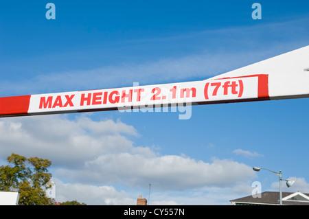 Hauteur maximale de signer sur York North Yorkshire England UK Royaume-Uni GB Grande Bretagne Banque D'Images