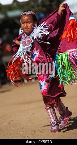 Native American girl Chumash Banque D'Images
