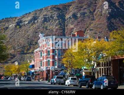 Strater Hotel sur l'avenue principale de Durango, Colorado Banque D'Images