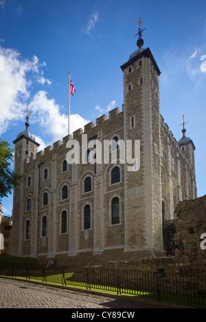 La Tour Blanche est une tour centrale, le vieux donjon, à la Tour de Londres. Il a été construit par Guillaume le Banque D'Images