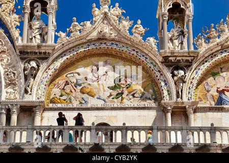 La basilique de San Marco, la Place Saint Marc, Venise, Italie (touristique), l'UNESCO