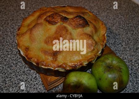 Des tarte aux pommes fraîches 2 Banque D'Images