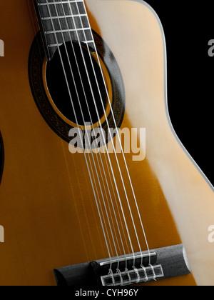 Gros plan de la guitare classique, pour la musique,Thèmes Divertissement Banque D'Images