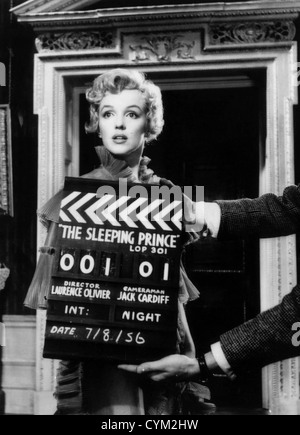Marilyn Monroe The Prince and the Showgirl 1957 Réalisateur: Laurence Olivier Banque D'Images