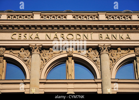 Prague, République tchèque. Banque nationale tchèque / Ceska narodni banka. Façade Sud, plus sur Senovazne namesti
