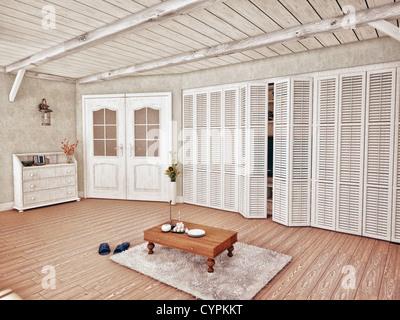 Intérieur de style Provence (3D Rendering) Banque D'Images