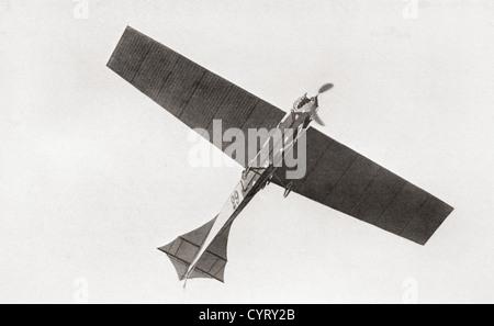 Arthur Latham monoplan est dans l'air en 1909. Arthur Charles Hubert Latham, 1883 -1912. Pionnier de l'aviation française.