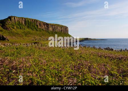 Voir d'Drumadoon Point, un monument près de Blackwaterfoot côtière sur l'île d'Arran, Ecosse, Royaume-Uni