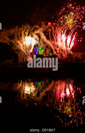 USA Floride Disney World Magic Kingdom Vœux 2012 Banque D'Images