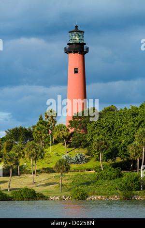 L'arrivée de lumière de Jupiter, Jupiter, Palm Beach County, Treasure Coast, Florida, USA Banque D'Images
