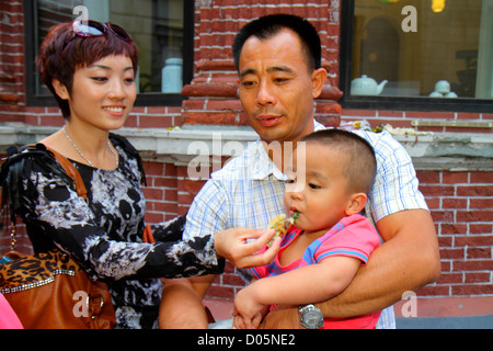 Chine, Shanghai, Asie, Chinois, Oriental, Huangpu District, Dianchi Road, Asiatiques Asiatiques ethnies immigrants Banque D'Images
