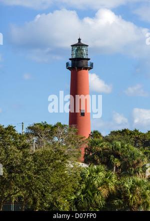 L'arrivée de lumière de Jupiter, Jupiter, Treasure Coast, Florida, USA Banque D'Images