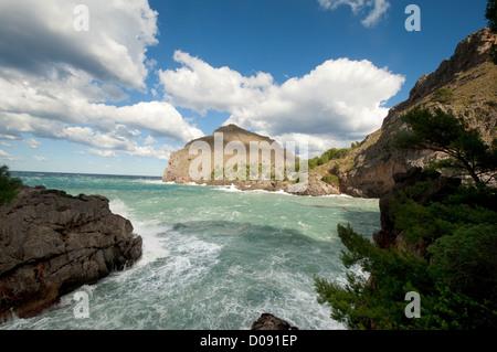 Platja de Torrent de Pareis, Sa Calobra, Mallorca (Majorque), Iles Baléares, Espagne, Méditerranée, Europe Banque D'Images