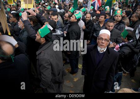 20 novembre 2012. London UK. Les manifestants de la communauté bangladaise en Grande-Bretagne se rassembler devant Banque D'Images
