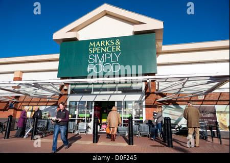 Marks & Spencer simply food store, Cheltenham, UK.