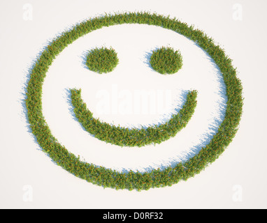 Patch d'herbe en forme de smiley Banque D'Images