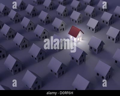 La recherche de l'immobilier droit du rabatteur Banque D'Images