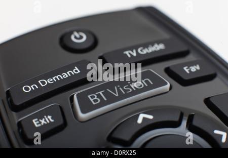 British Telecom BT Vision télécommande circa 2011. Banque D'Images