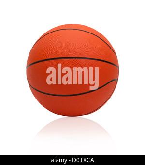 Le monde de basket-ball jeux de sports préférés isolated on white Banque D'Images