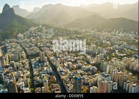 Vue aérienne de quartiers de Rio de Janeiro, Brésil Banque D'Images
