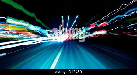 Blurred motion de scène de l'autoroute Banque D'Images