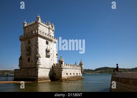 Tour de Belem Lisbonne Portugal Torre de Belem Lisbonne Portugal Banque D'Images