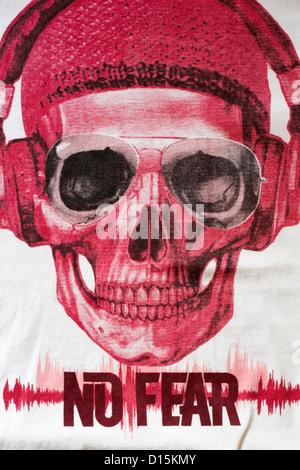 Détails sur aucune peur t-shirt Banque D'Images