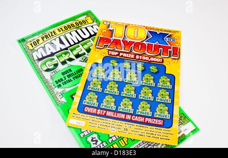 Loterie d'état gratter tickets, North Carolina, États-Unis
