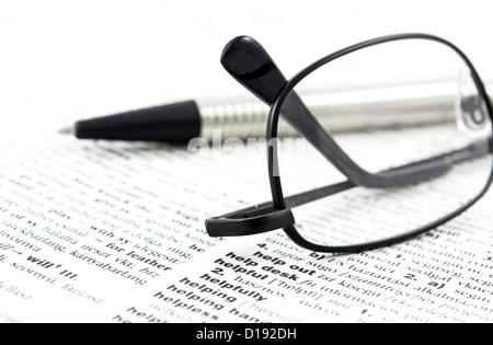 Dictionnaire français-anglais close up Banque D'Images
